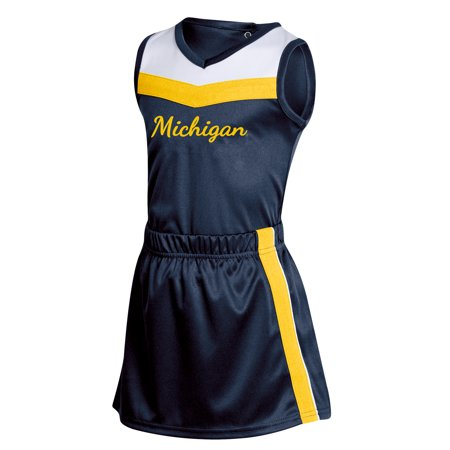 Girls Toddler Russell Navy Michigan Wolverines 3-Piece Cheer Set](Wolverine Outfits)