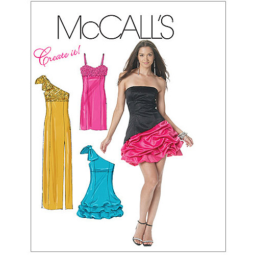 McCall's Pattern Misses' Lined Dresses, EE (14, 16, 18, 20)
