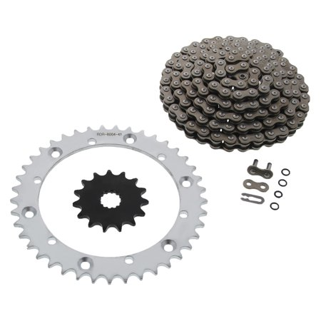 CZ DZO O-Ring Chain & Silver Sprocket 15/41 104L 01-05 Yamaha Raptor 660 (Rotor O-ring)