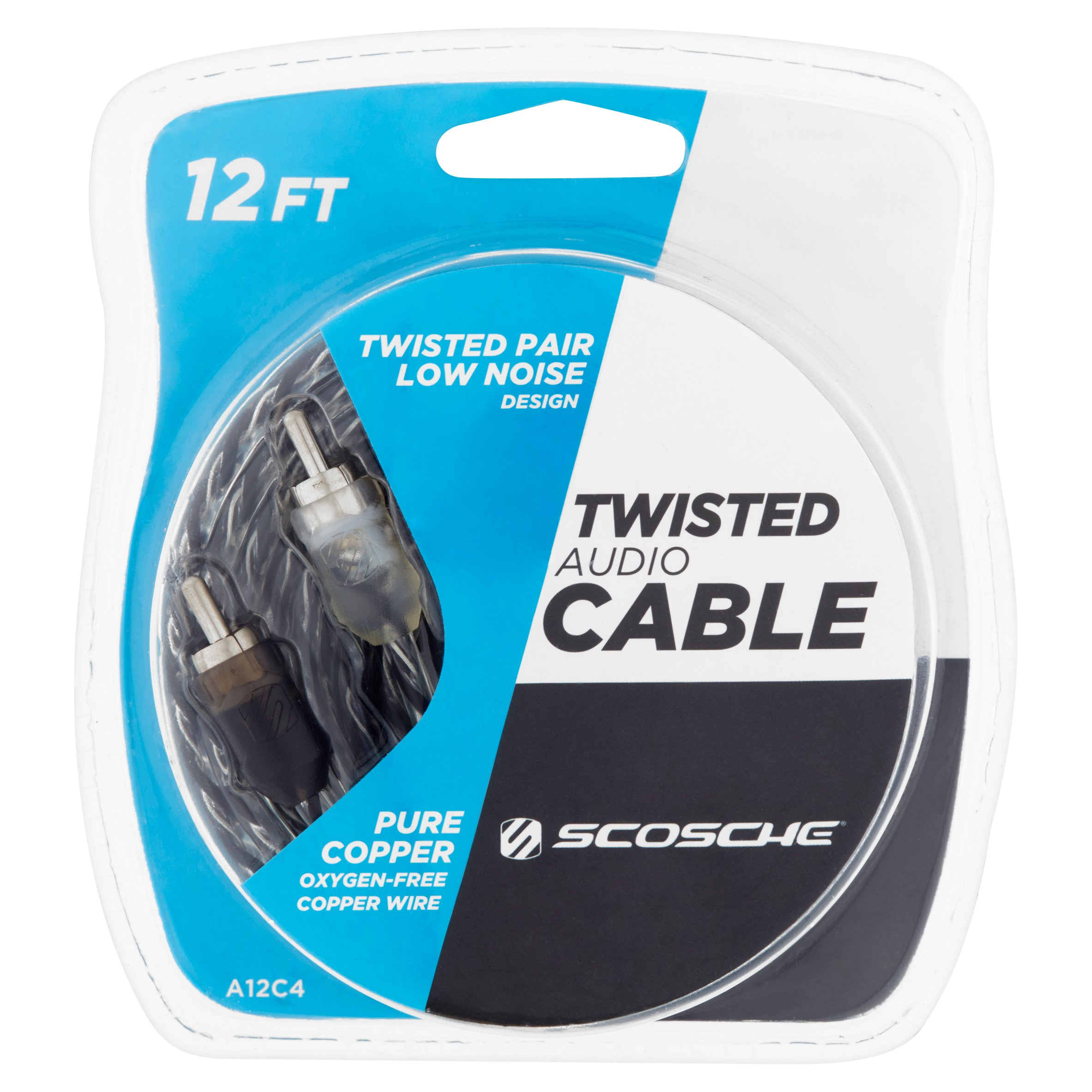 Scosche 12 ft Twisted Audio Cable