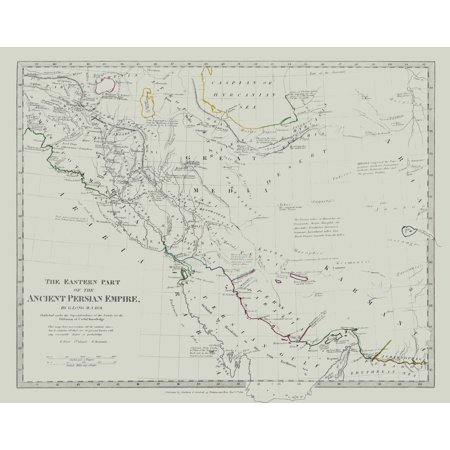 Middle East Ancient Persian Empire Eastern Part - Long 1831 - 29.04 x 23