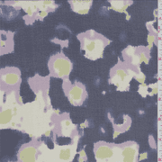 Violet Blue Floral Print Silk Chiffon, Fabric By the Yard