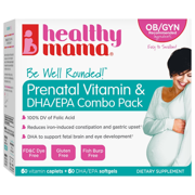 Healthy Mama Be Well Rounded! Best Prenatal Vitamin+DHA Combo, 60ct, 2 Month Supply