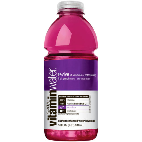 Glaceau Revive Fruit Punch Vitaminwater, 32 oz