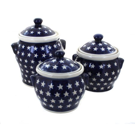 Blue Rose Polish Pottery Stars Canister Set ()