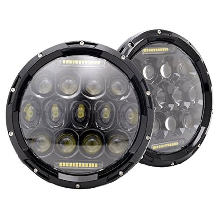 BMW 1600 1600-2 1602 1969-1971 7 Inch Round Cree LED Headlights White 75W 9000 Lumens Hi/Lo Beam with DRL ()