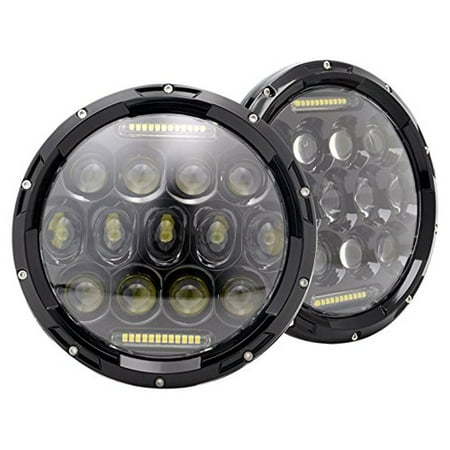 Chevy K10, k20, K5 Blazer 1975-1980 7 Inch Round Cree LED Headlights White 75W 9000 Lumens Hi/Lo Beam with DRL