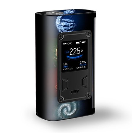 Skin Decal Vinyl Wrap for Smok Majesty 225W TC Kit Vape Kit skins stickers cover/ Elements Water Earth Fire Air ()