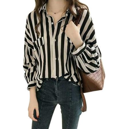 86b73387 Babula - Babula Women Button Down Tops Blouse OL Office Shirts - Walmart.com