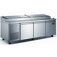 """Heavy Duty Commercial 91"""" (3 Door) Pizza Prep Table Refrigerator"""