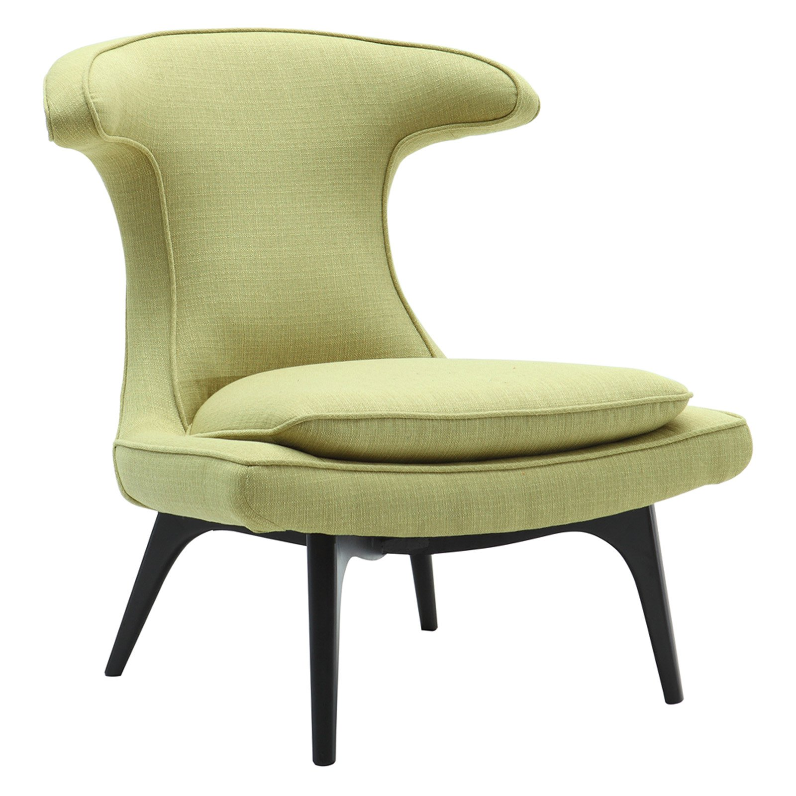 Armen Living Aria Contemporary Accent Wingback Chair