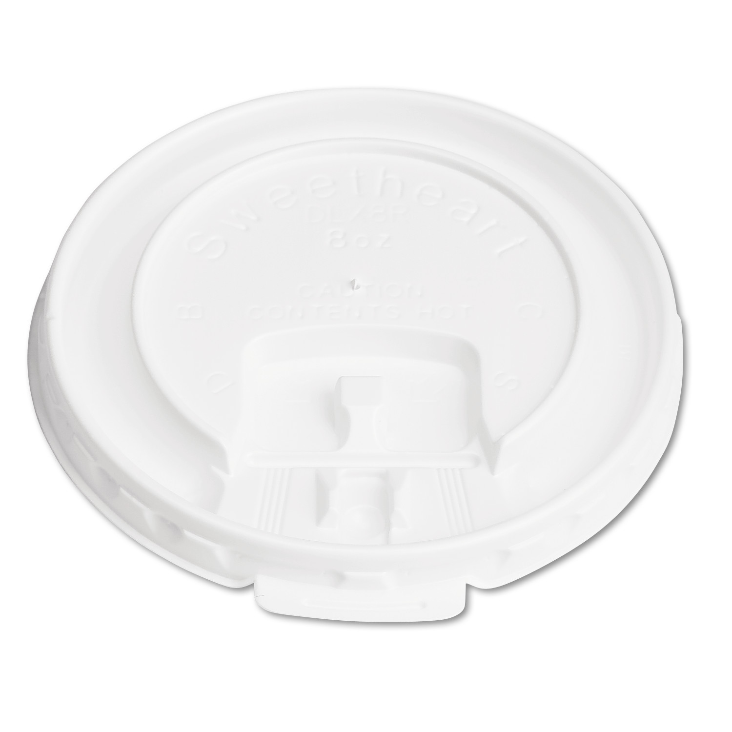 SOLO Cup Company Liftback & Lock Tab Cup Lids for Foam Cups, Lid, for SLOX8J, White, 2000 ct