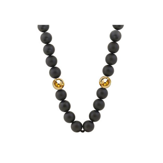 FineJewelryVault UBNCBK9BOXY14 10 MM Beads and Black Onyx...
