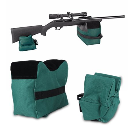 HERCHR Unfilled Front & Rear Shooters Gun Rest Sand Bags, Outdoor Portable Target Shooting Bag Shooting Bench Steady Sandbag , Unfilled Sandbag, Shooting Bench