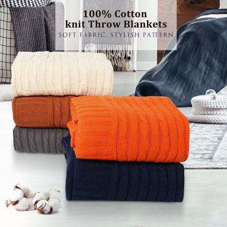 Walmart Throw Blankets Stunning Cotton Knit Throw Blanket Sofa Couch Decorative Cable Knitted