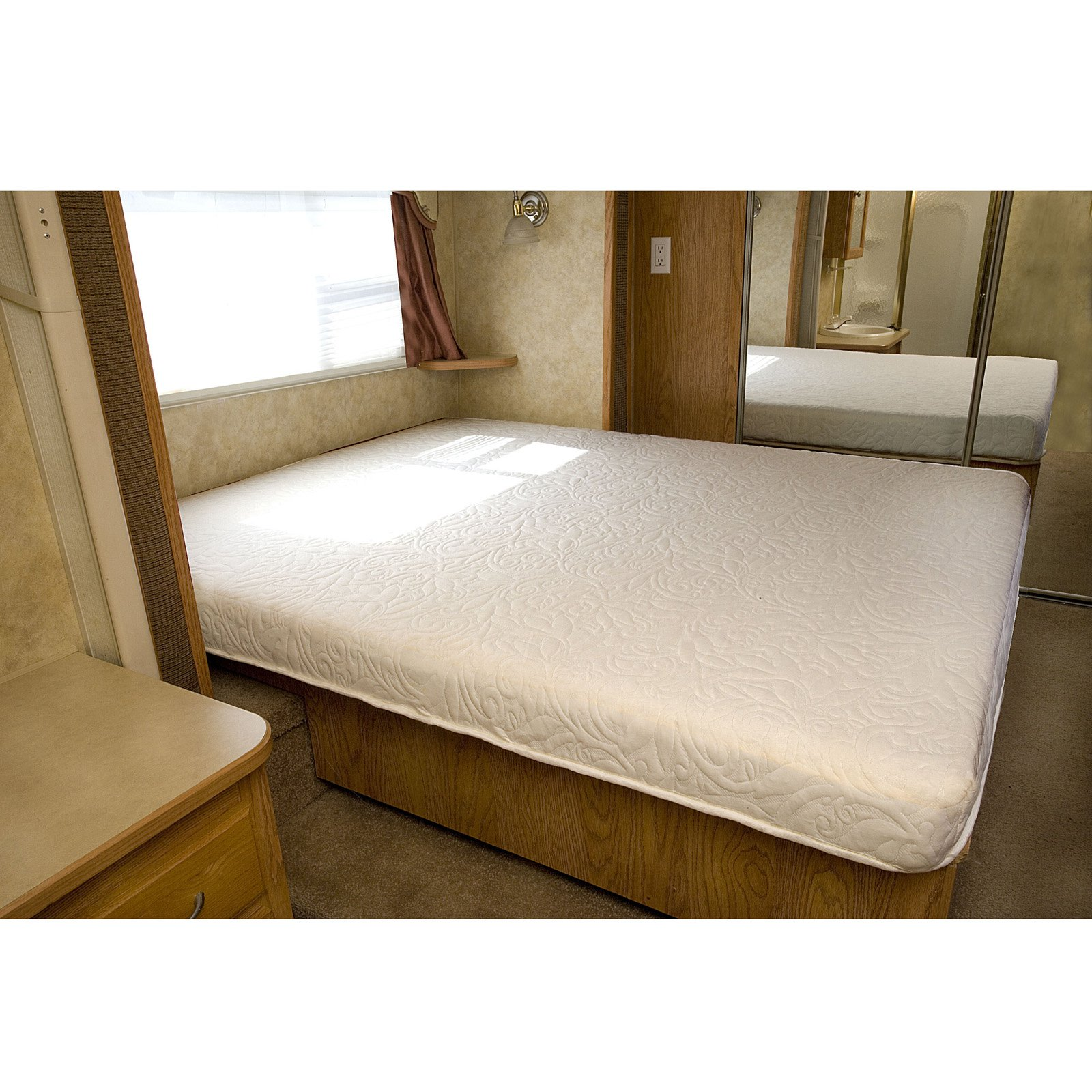 rv camper cool gel memory foam mattress short queen - Short Queen Mattress