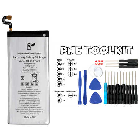 Generic Battery EB-BG935ABE - Samsung Galaxy S7 edge SM-G935 3600mAh in Non-Retail Package (PNE Toolkit Included) - USA Seller