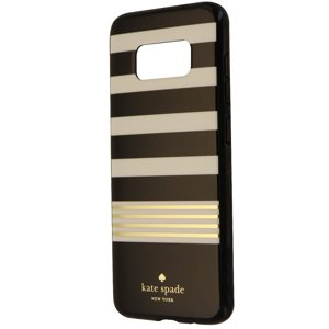 Kate Spade New York Hardshell Case for Galaxy S8 - Black White Gold Stripes