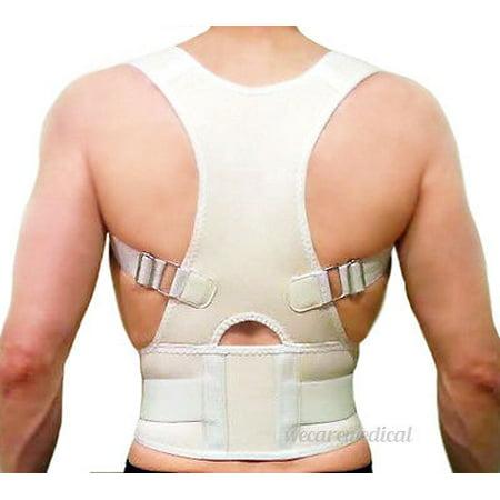 Neoprene Plant Support Inserts - Posture Correction and Back Pain Support Fully Adjustable Back Brace Belt Neoprene EBP Medical  Unisex White