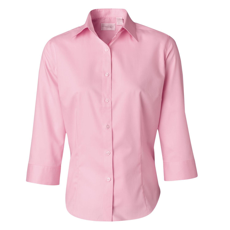 Van Heusen Van Heusen Button Down Dress Shirt 13v0527 Womens 3 4