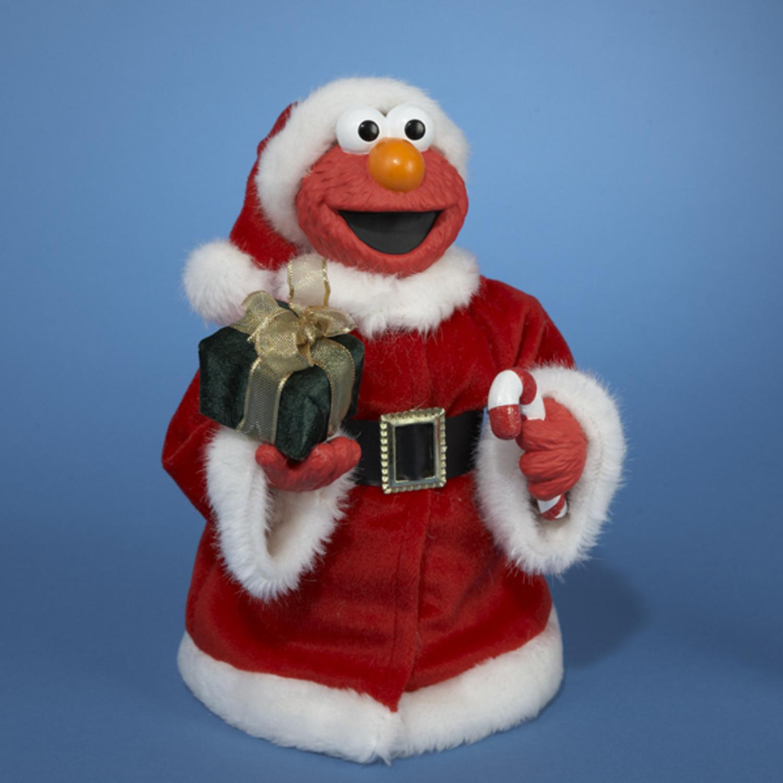 "10.5"" Sesame Street Elmo Wearing Plush Santa Suit Christmas Figure by Kurt Adler"