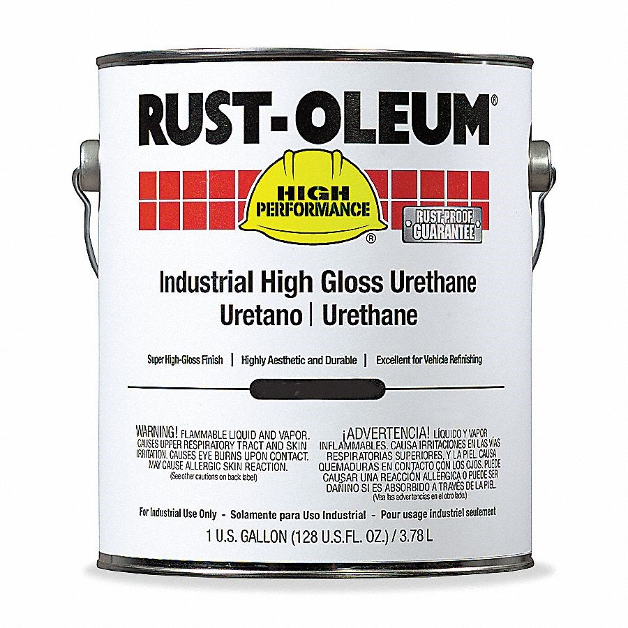Rust-oleum Polyester Urethane Coating 1 gal. Black High Gloss 9479402