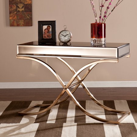 layton luxe console table champagne. Black Bedroom Furniture Sets. Home Design Ideas