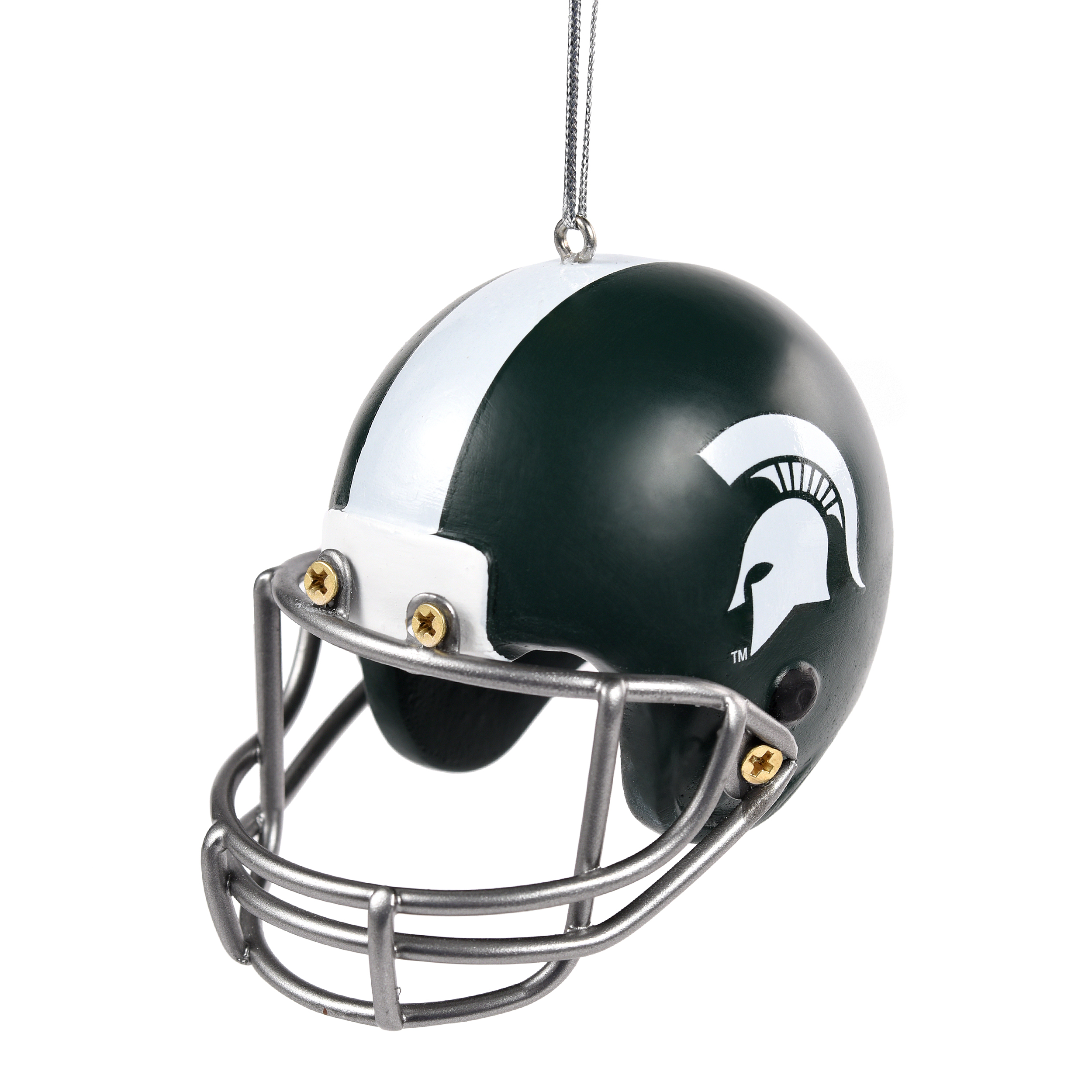 Michigan State Spartans Official NCAA Holiday Christmas Ornament Resin Helmet by Forever Collectibles 497639