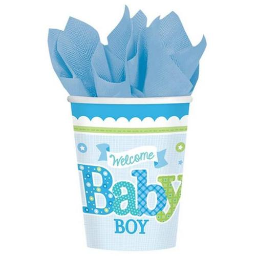 Amscan 581461 9 oz.  Welcome Little One Boy Cups - Pack of 96