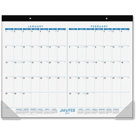 at a glance 2 month view calendar desk pad julian daily