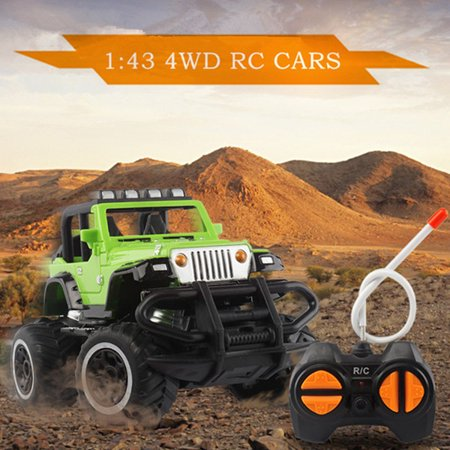 Topacc 1:43 Mini RC Off-Road Truck  w/ Remote Controller Four Channel 27MHZ RC Car For Kids Toy Birthday Christmas Gift (Remote Control Cars Toy)
