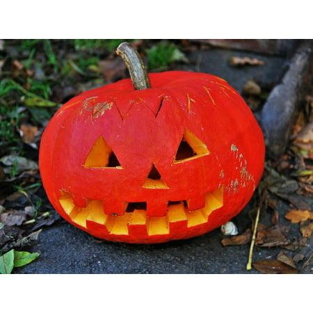 Framed Art for Your Wall Pumpkin Head Decoration Halloween Thanksgiving 10x13 Frame](Halloween Decorations Folk Art)