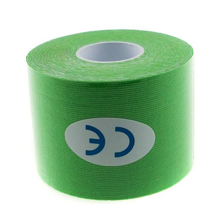 TrendBox Green - 1 Roll 5m x 5cm Kinesiology Sports Muscles Care Elastic Physio Therapeutic Tape for Knee Shoulder Wrist Muscle Back Injury Exercise ...
