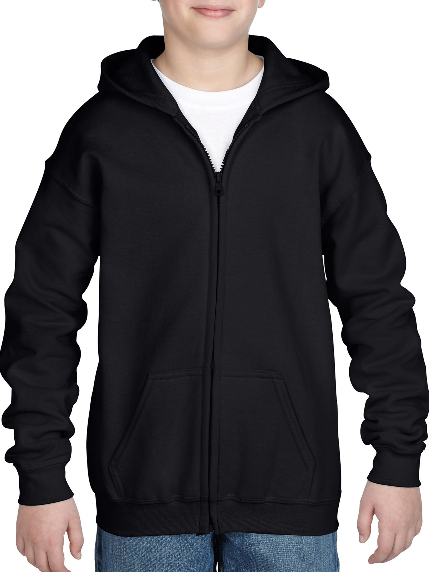 Kids Full Zip Hooded Sweatshirt
