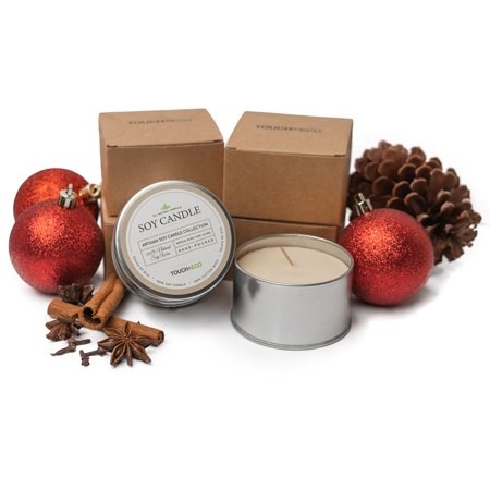 Scented Soy Candles, Summer Rain - 2 Pack Cookie Soy Candle