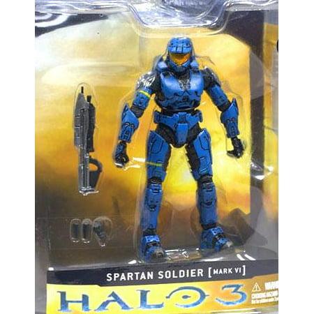 McFarlane Halo Series 1 Spartan Soldier MARK VI Action Figure - Halo Blue Spartan