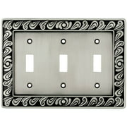 Franklin Brass Paisley Triple-Switch Wall Plate, Available in Multiple Colors