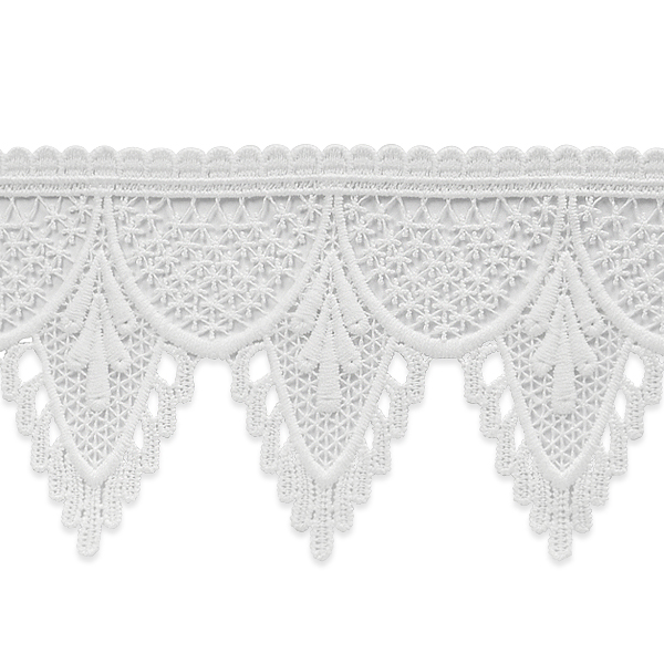 Expo Int'l 5 yards of Scalloped Embroidery lace trim