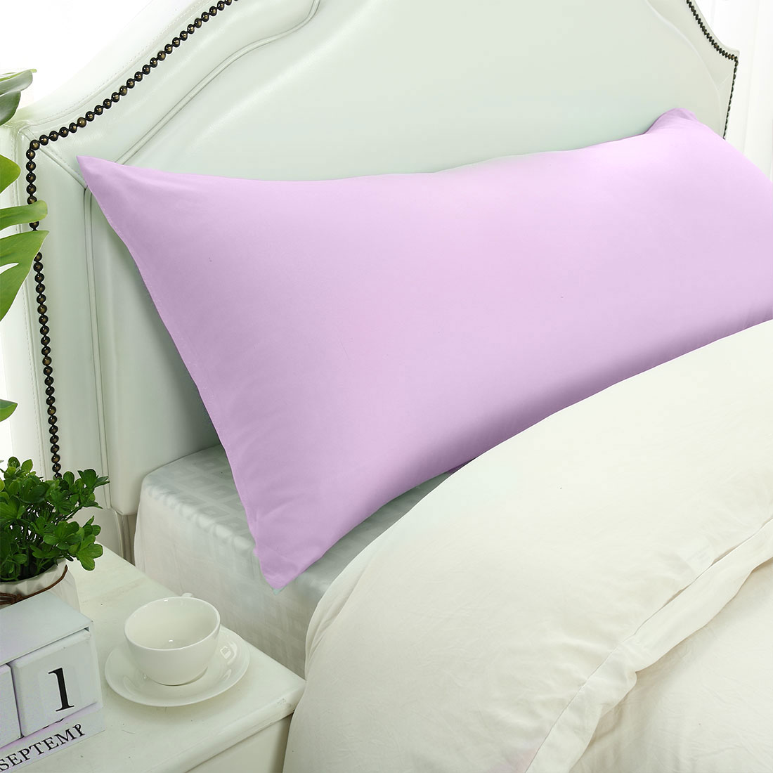 """Body Pillow Cases 1800 Microfiber Soft Bolster Pillow Covers Violet 20x60"""""""