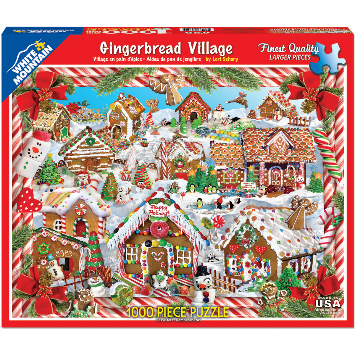 "Jigsaw Puzzle, 1000 Pieces, 24"" x 30"", Gingerbread Houses"