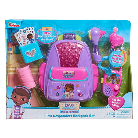 Just Play First Responders Backpack Set, This new Doc McStuffins First Responders Backpack set is perfect for your little emergency responder!.., By Doc