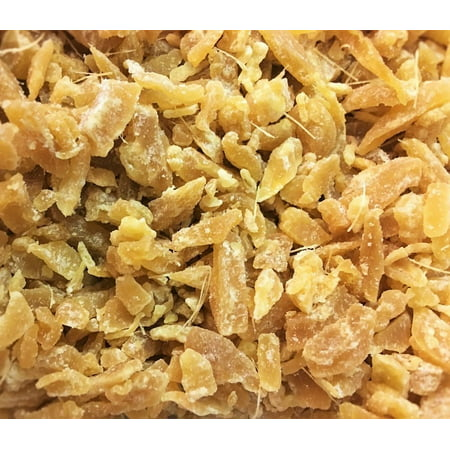 Chocolate Crystallized Ginger - Diced Crystallized Ginger with Lime by Its Delish (1 lb)