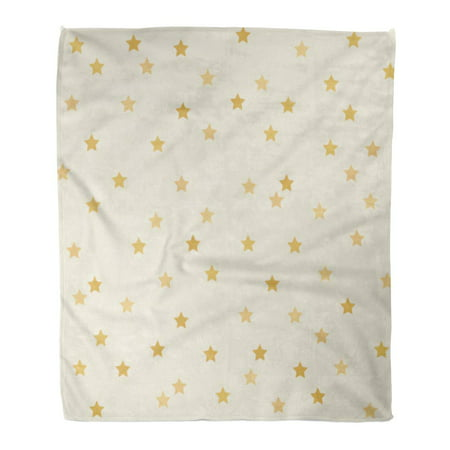 ASHLEIGH Throw Blanket 58x80 Inches Beige Christmas Polka Dot Star Golden Grunge on Realistic Yellow Gold Cream Gradient Warm Flannel Soft Blanket for Couch Sofa Bed