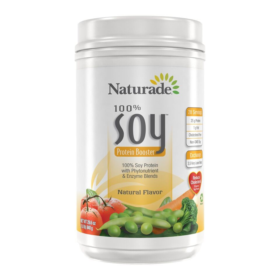 Naturade Soy Protein Booster, Natural Unflavored, 29.6 Oz