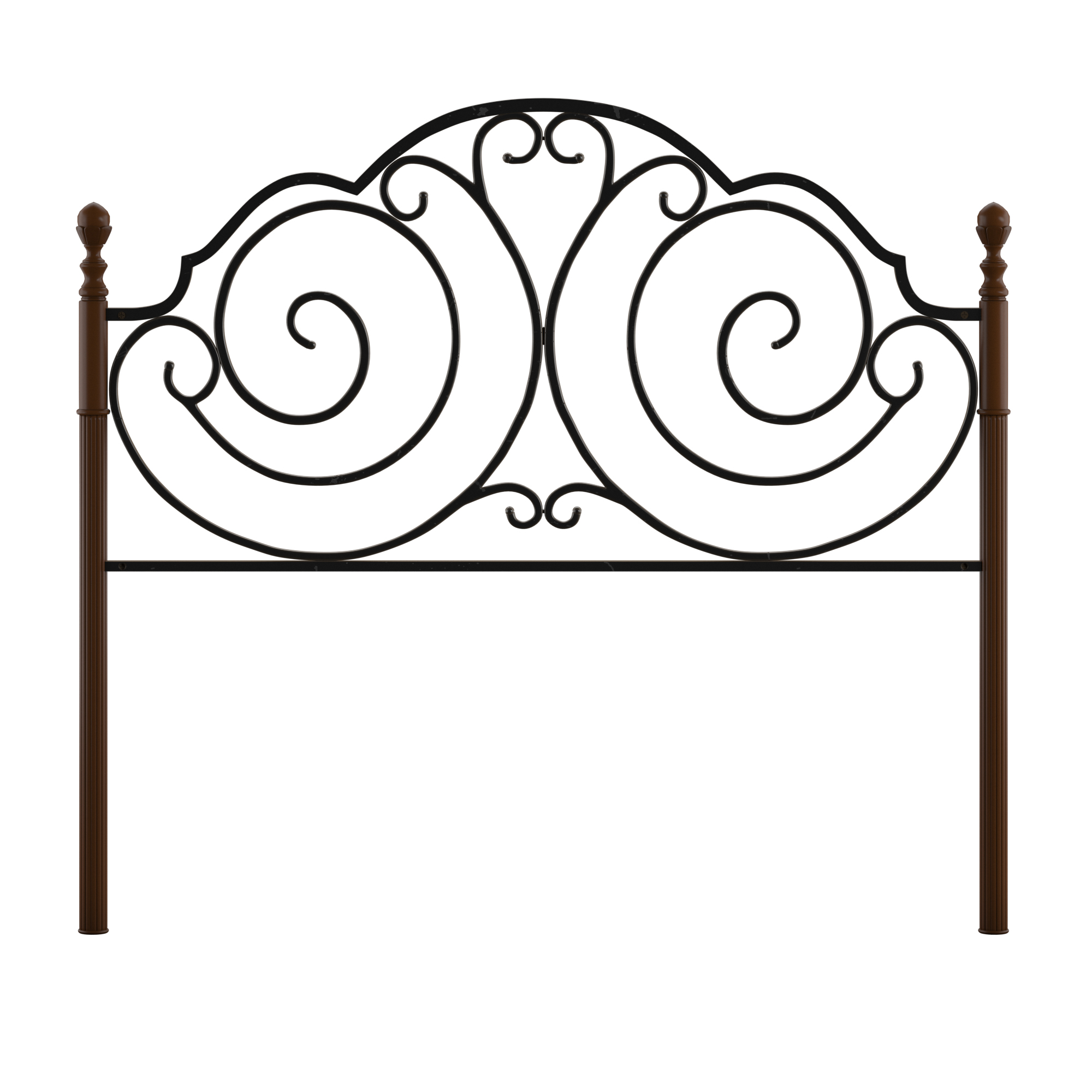 Adison Metal and Wood Headboard, Multiple Sizes