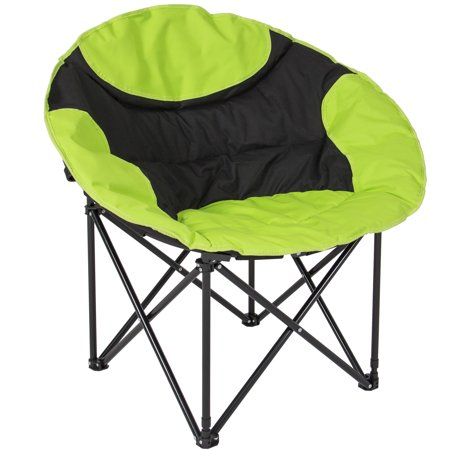 best choice products folding lightweight moon camping chair outdoor sport - (Best Rated Camping Chairs)