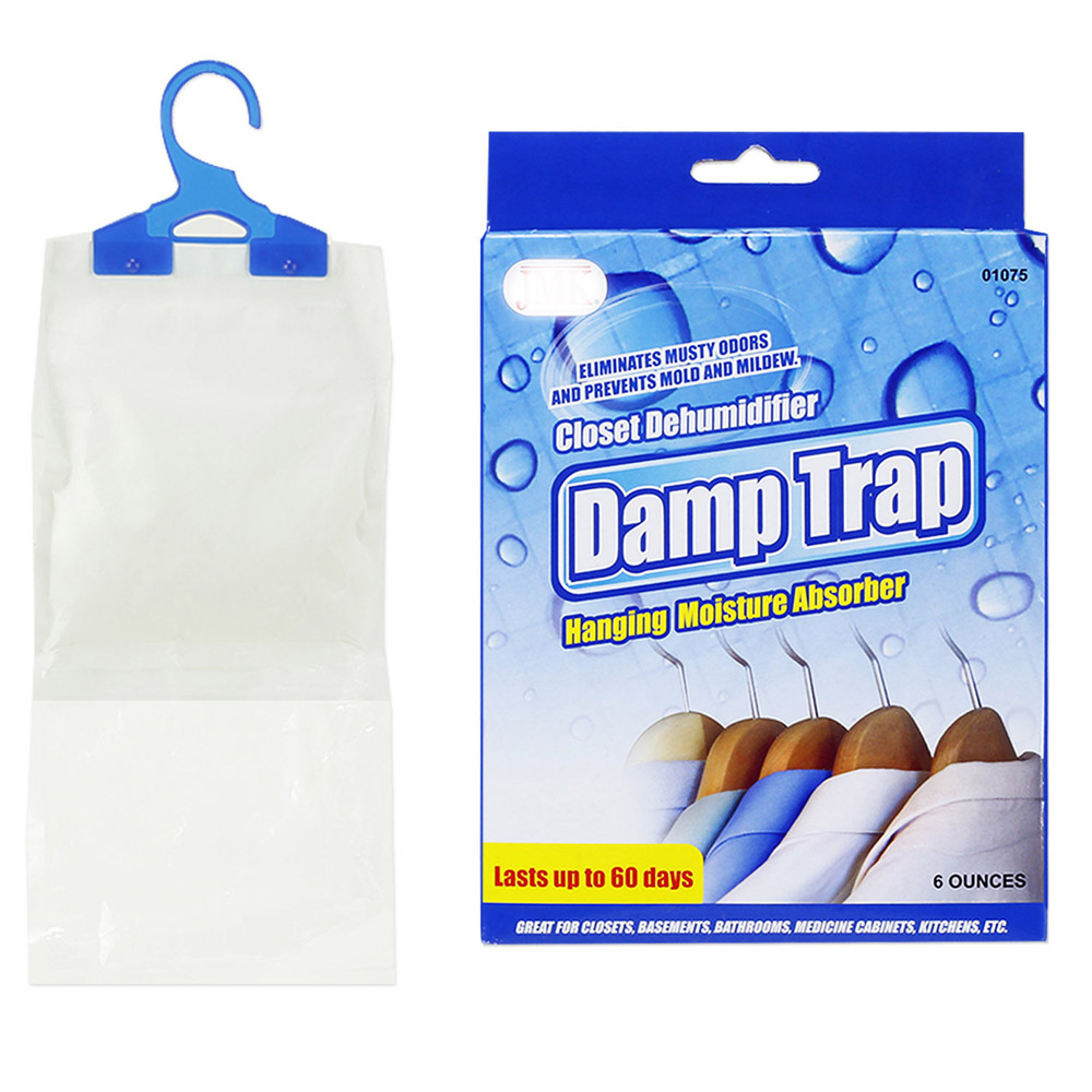 Hanging Closet Damp Trap Excess Moisture Absorber Air Dehumidfier Mildew  Mold !