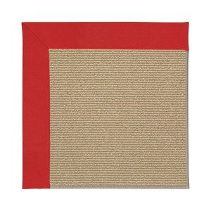 CAPEL Rugs Zoe-Sisal Area Rug Red 5-ft 8-ft