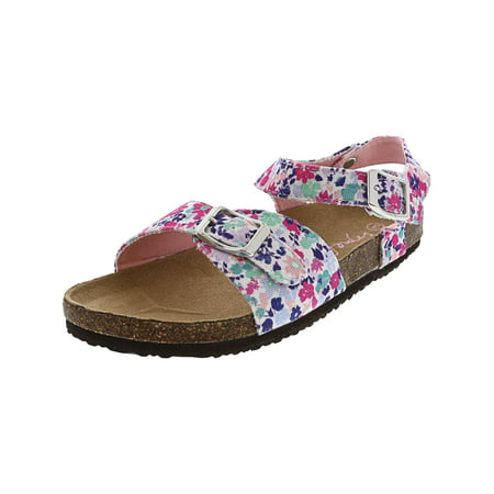 Joules Junior Tippy Toes Pretty Ditsy Ankle-High Fabric Sandal - - Fine Fabric Sandals