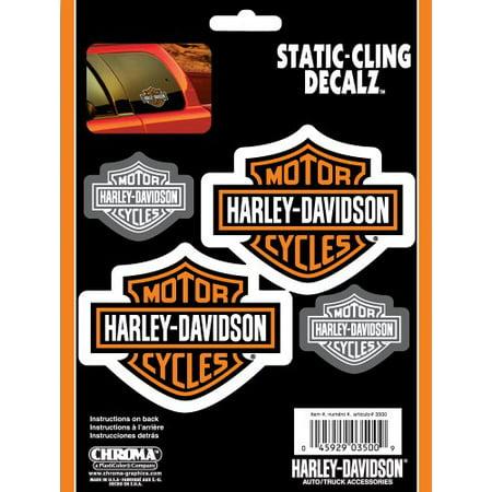 Harley-Davidson Bar & Shield 4 (Chroma Graphics Static Cling)